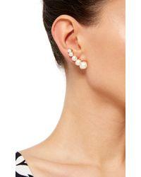 Ana Khouri - Metallic White Pearl And 18k Yellow Gold Time Earrings - Lyst