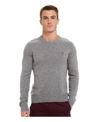 Original Penguin | Gray Lambswool Crew Neck Sweater for Men | Lyst