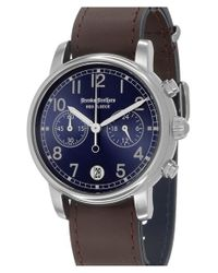 Brooks Brothers | Brown 'red Fleece' Chronograph Leather Strap Watch for Men | Lyst