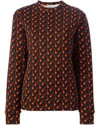 Au Jour Le Jour - Red Guitar Print Sweatshirt - Lyst