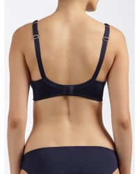 John Lewis Blue Ava Embroidered Spacer Bra