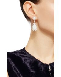 Nina Runsdorf - Metallic White Crystal Opal And Fancy Diamond Earrings - Lyst