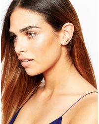 Warehouse - Metallic Sparkle Stud & Bar Earrings - Lyst