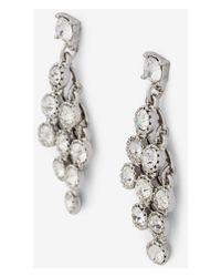 Express | Metallic Rhinestone Waterfall Earrings | Lyst