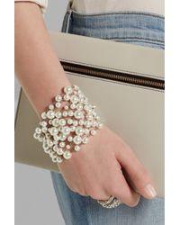 Rosantica - White Pegaso Palladium-Plated Freshwater Pearl Bracelet - Lyst