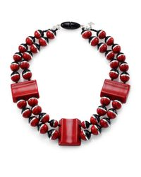 Weekend by Maxmara | Red Eolo Beaded Necklace | Lyst