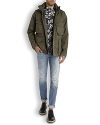 Paul Smith Green Olive Cotton Field Jacket for men