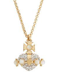 Vivienne Westwood - Metallic Oona Bas Relief Gold Tone Necklace - Lyst