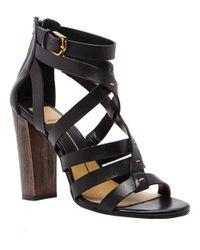 Dolce Vita | Black Nolin Leather Strappy Open-toe Sandals | Lyst