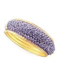 Jose & Maria Barrera - Purple Pave Crystal Cuff Lavender - Lyst