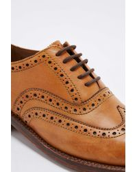 Foot The Coacher | Natural Stanley Tan Brogue Shoes for Men | Lyst