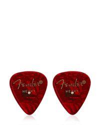 Laura B Red Guitar Pick Cufflinks for men