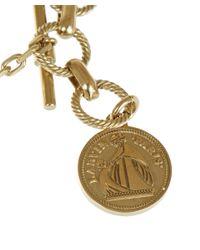 Lanvin Metallic Gold-Tone Ischia Tassel Knot Necklace