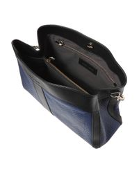 See By Chloé Blue Beckie Two-Tone Textured-Leather Shoulder Bag