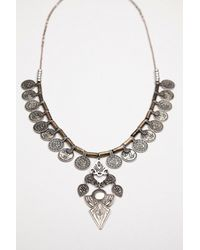 Free People - Metallic Long Coin Layering Necklace - Lyst