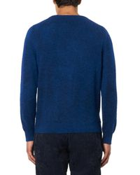 Massimo Alba Blue Pierre Cashmere And Alpaca-Blend Sweater for men