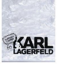 Karl Lagerfeld White Choupette Perspex Clutch