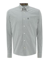 Barbour Gray Country Gingham Long Sleeve Shirt for men