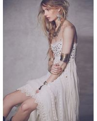 Free People White Studded Lace Party Dress