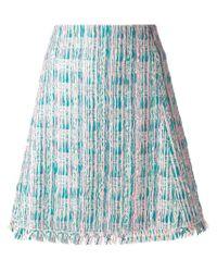 Chloé | Green Bouclé A-line Skirt | Lyst