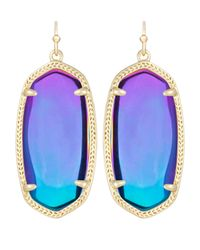 Kendra Scott | Blue Elle Black Iridescent Earrings | Lyst