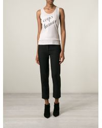 Ann Demeulemeester Blanche - Natural Corps Humain Print Top - Lyst