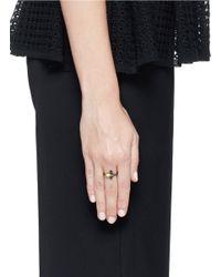Iosselliani - Black Zircon Fan Ring - Lyst