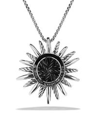 David Yurman | Metallic Starburst Medium Pendant With Diamonds On Chain | Lyst