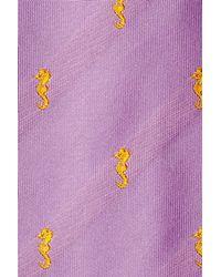 Etro - Yellow Embroidered Silk Tie - Purple for Men - Lyst