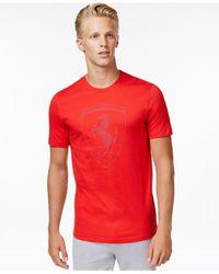 PUMA Red Men's Ferrari Big Shield T-shirt for men