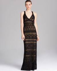 Vince Camuto Black Crochet Maxi Dress
