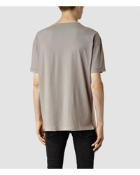 AllSaints | Brown Draken Crew T-shirt for Men | Lyst