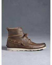 John Varvatos Brown Lugger Boat Boot for men