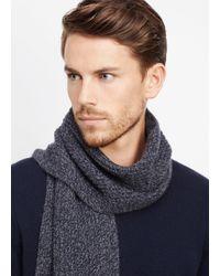 Vince Blue Cashmere Marled Knit Scarf for men