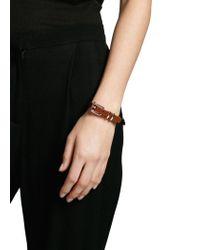 Mango - Metallic Metal Buckle Skinny Bracelet - Lyst