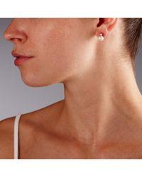 John Lewis - Metallic Pearl And Square Diamantã© Stud Earrings - Lyst