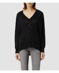 AllSaints Black Balance Sweater