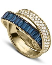 Michael Kors - Metallic Brilliance Crossover Ring - Ring Size P - M/L - Lyst