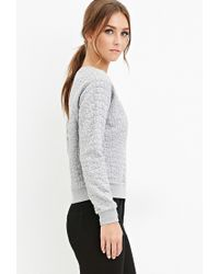 Forever 21 Gray Pebble-textured Pullover