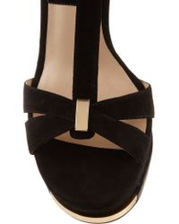 Michael Kors Black Leandra Suede Sandals