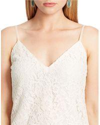 Lauren by Ralph Lauren | White Plus Lace Tank | Lyst