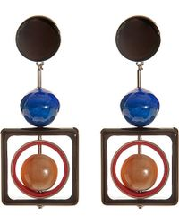 Marni | Multicolor Geometric Resin Earrings - For Women | Lyst