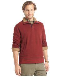 G.H. Bass & Co. | Red Faux-fur Fleece Mock Sweater for Men | Lyst