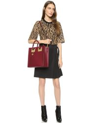 Sophie Hulme - Red Large Square Tote - Petrol - Lyst