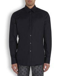 Alexander McQueen Black Harness Stretch Cotton Shirt for men