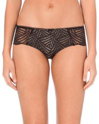 Chantelle | Black Illusion Stretch-lace Shorty Briefs | Lyst