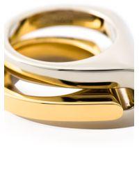 Chloé - Metallic Chloé 'greta' Double Ring - Lyst