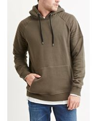 Forever 21 | Green Quilted Cotton-blend Hoodie for Men | Lyst