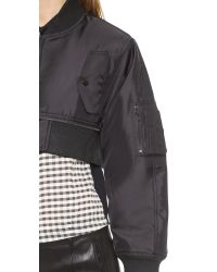 KTZ Bomber Gathered Jacket  Black