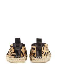 Saint Laurent - Multicolor Manto Naturale Leopard-Print Espadrilles - Lyst